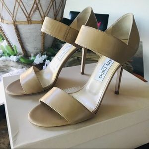 JIMMY CHOO Tallow Kid Leather Sandals 38.5♥️♥️